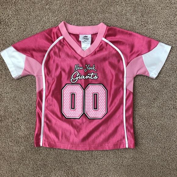 girls pink giants jersey